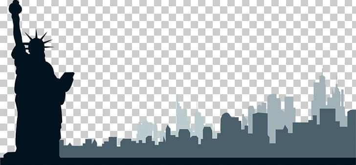 New York City Skyline Png Clipart Black And White Brand