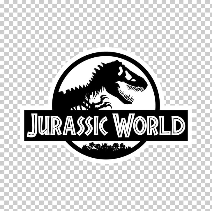 Tyrannosaurus Jurassic Park Logo Decal PNG, Clipart, Art, Black And White, Brand, Carnivoran, Clip Art Free PNG Download