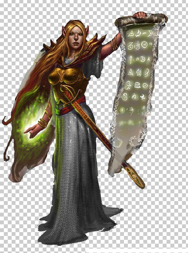 Elven Cleric Character Art Concept