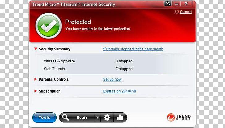 Antivirus Software Trend Micro Internet Security Computer