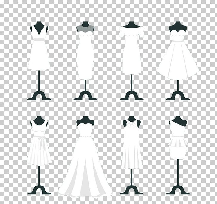 Wedding Dress White Wedding Png Clipart Black Black And White Bride Cartoon Clothes Hanger Free Png