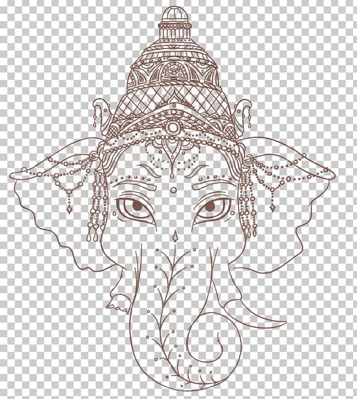 Ganesha Tattoo Artist PNG, Clipart, Art, Artwork, Black And White, Costume Design, Deva Free PNG Download