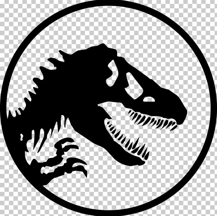 Jurassic Park Logo Printing PNG, Clipart, Animation, Area, Artwork, Black And White, Dinosaur Free PNG Download