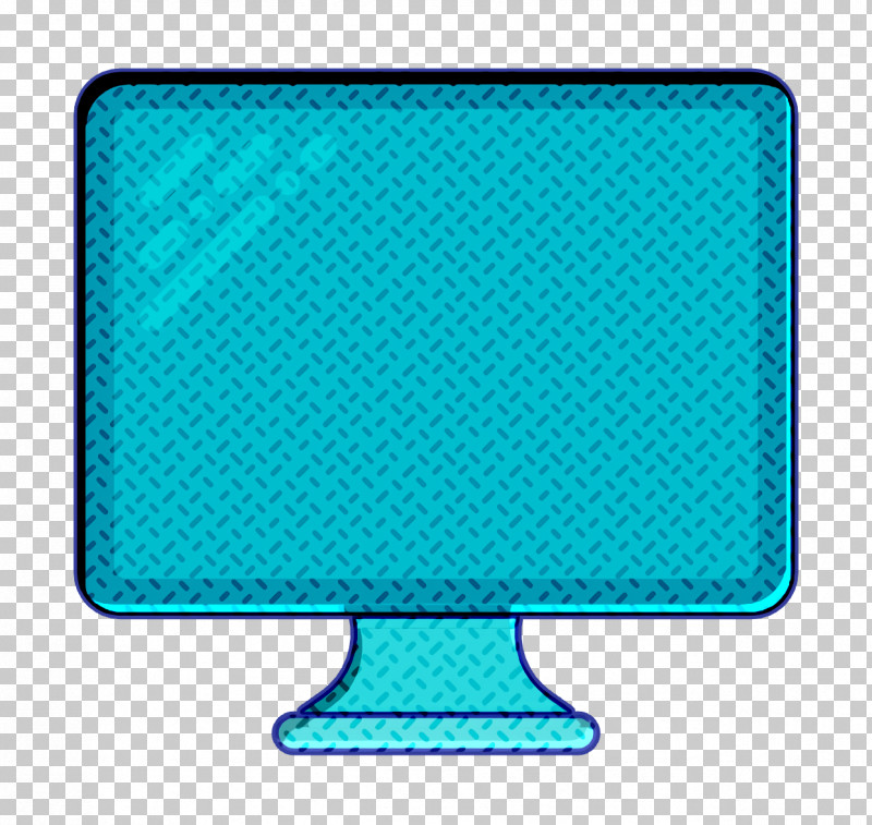 Monitor Icon Technology Elements Icon Television Icon PNG, Clipart, Aqua, Electric Blue, Monitor Icon, Rectangle, Technology Elements Icon Free PNG Download