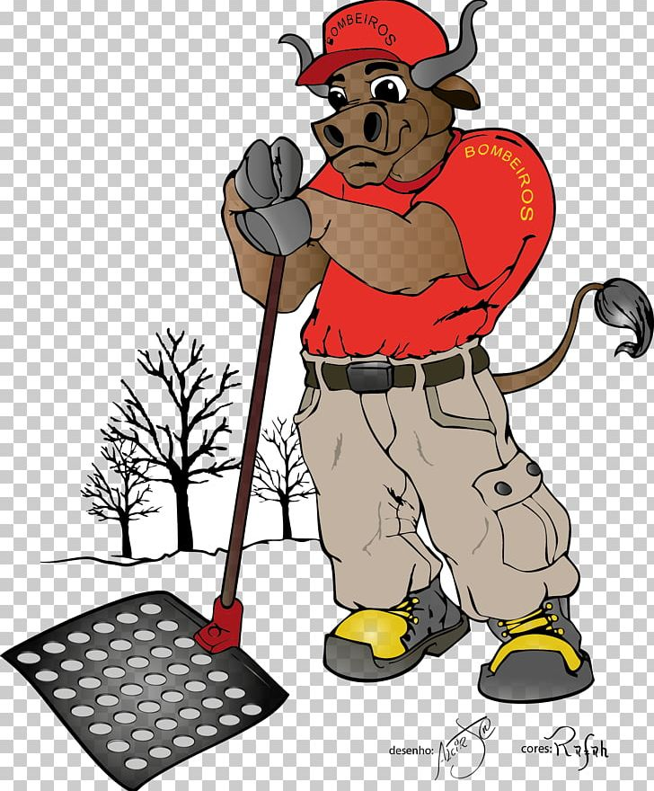 Firefighter Cattle Drawing PNG, Clipart, Art, Artwork, Boi, Career Portfolio, Cartoon Free PNG Download