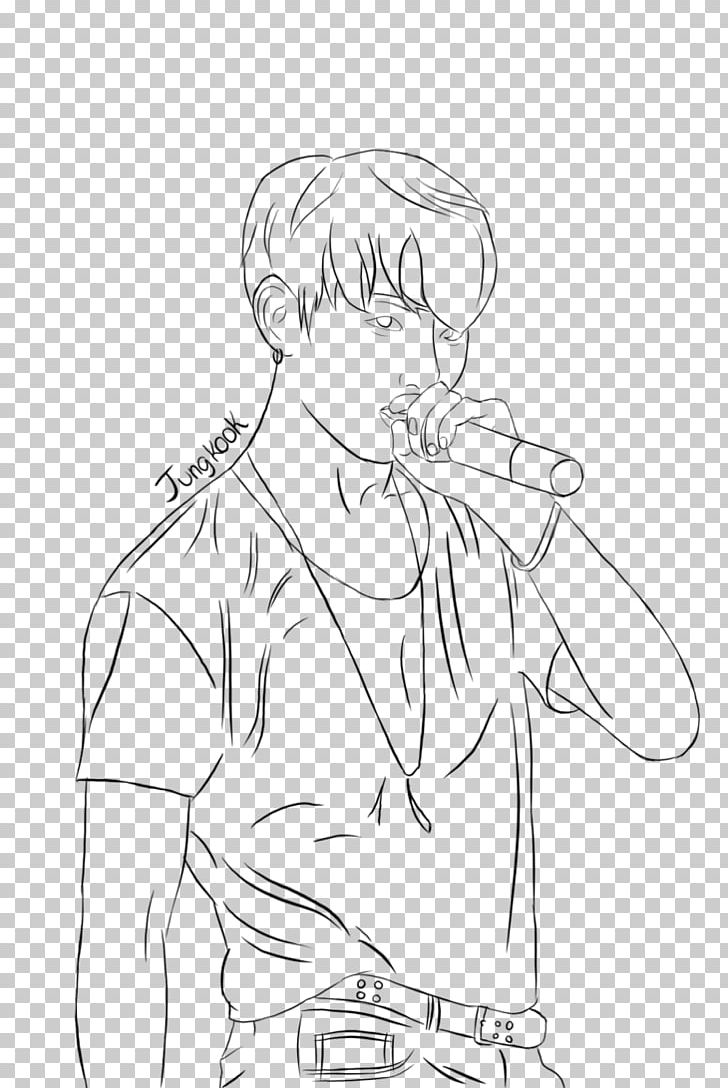 BTS Line Art Coloring Book Drawing EXO PNG, Clipart, Arm, Artwork, Black, Black And White, Dope Free PNG Download