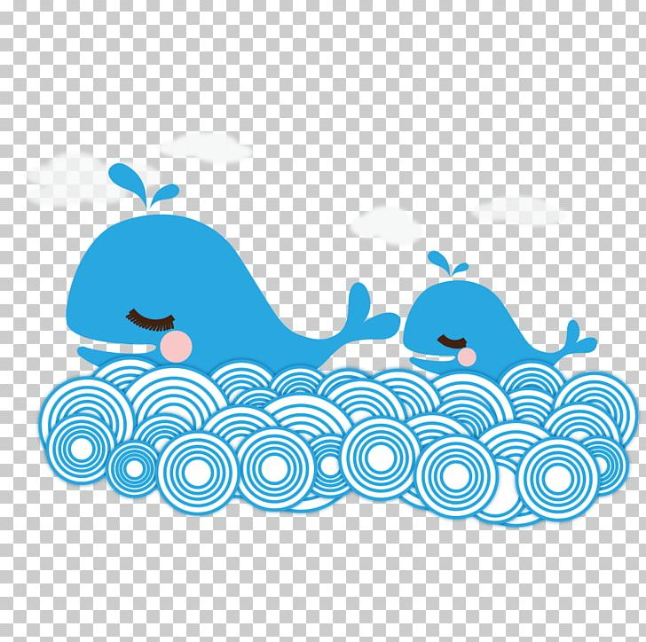 Cartoon Whale Illustration Png Clipart Animals Area Baby Baby Whale Blue Free Png Download