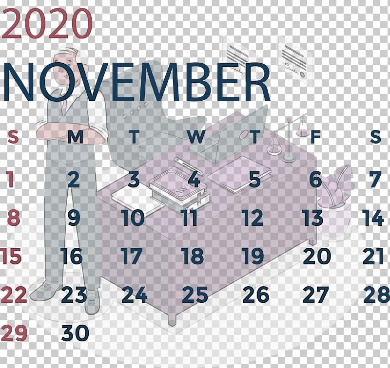 November 2020 Calendar November 2020 Printable Calendar PNG, Clipart, Angle, Area, Line, Meter, November 2020 Calendar Free PNG Download