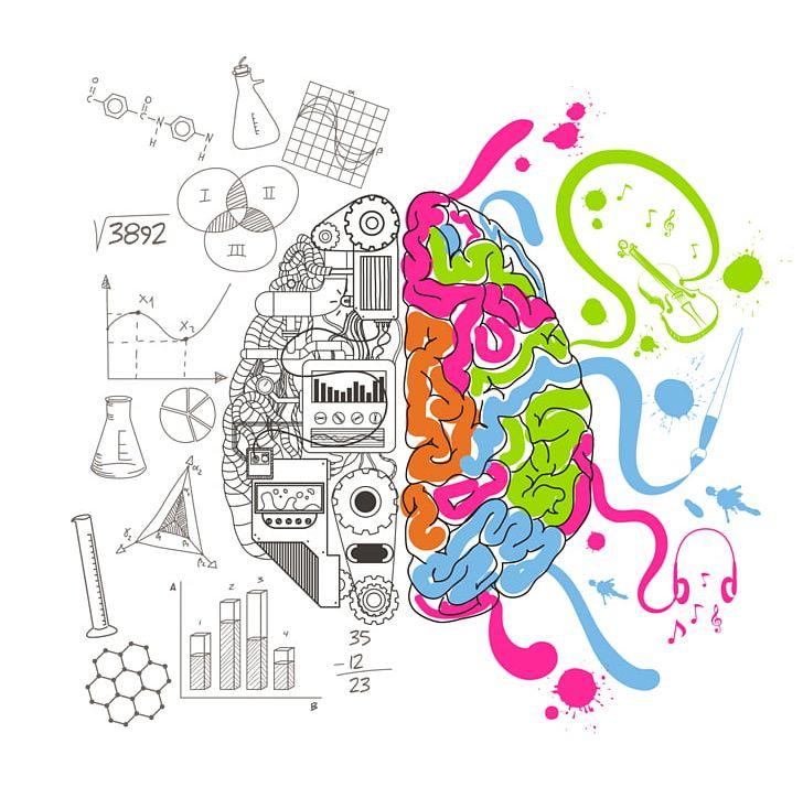 Creative Artwork Brain Drawing