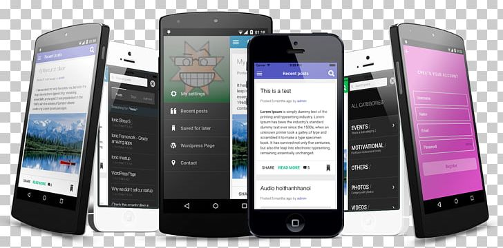 Ionic Apache Cordova Android Mobile App Development PNG, Clipart