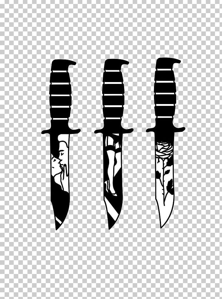 Knife Tattoo Flash Blade Design Png Clipart Free Png Download