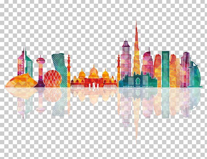 Dubai Abu Dhabi Skyline Silhouette PNG, Clipart, Abu Dhabi, Computer Wallpaper, Drawing, Dubai, Line Art Free PNG Download