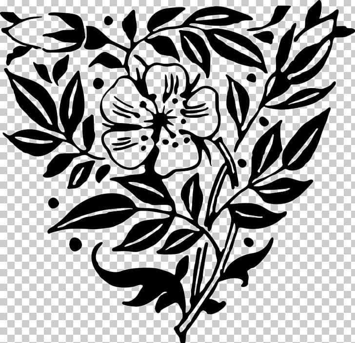 Floral Design Visual Arts Flower PNG, Clipart, Art, Artwork, Black, Black And White, Branch Free PNG Download