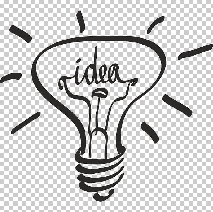 Idea Light Information Industrial Design PNG, Clipart, Black And White, Brand, Bulb, Creativity, Hand Free PNG Download