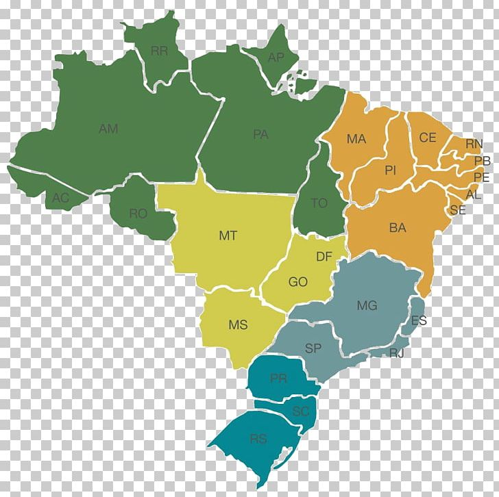 Regions Of Brazil World Map Mapa Polityczna Federative Unit ...