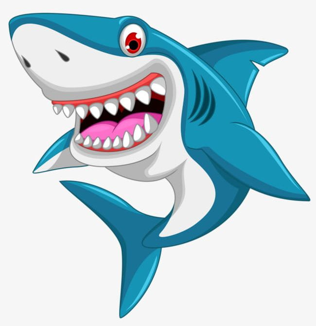 Cartoon Great White Shark Png Clipart Cartoon Cartoon Clipart Great Clipart Seabed Shark Free Png Download