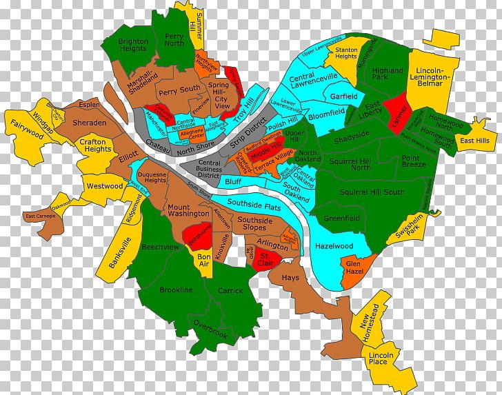 Neighbourhood Map Downtown Pittsburgh Downtown Boston PNG, Clipart on