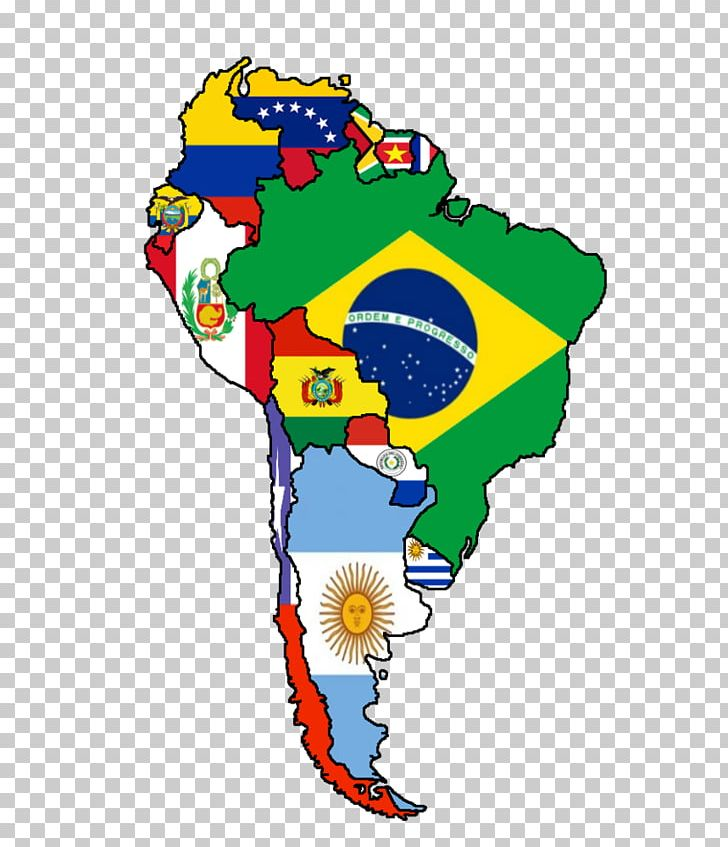 Flags Of South America United States Latin America Map PNG ...