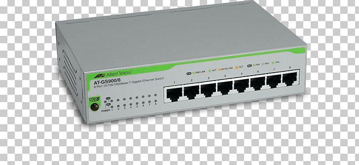 Network Switch Allied Telesis Gigabit Ethernet Port Fiber