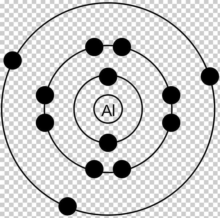 Bohr Model Aluminium Electron Chemistry Lewis Structure PNG