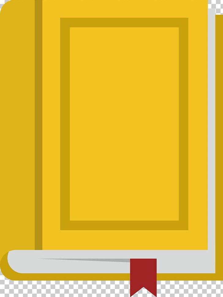 Yellow book. Frame area pattern png