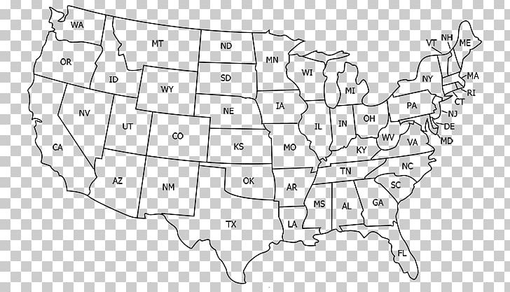 United States World Map U.S. State Abbreviation PNG, Clipart ...