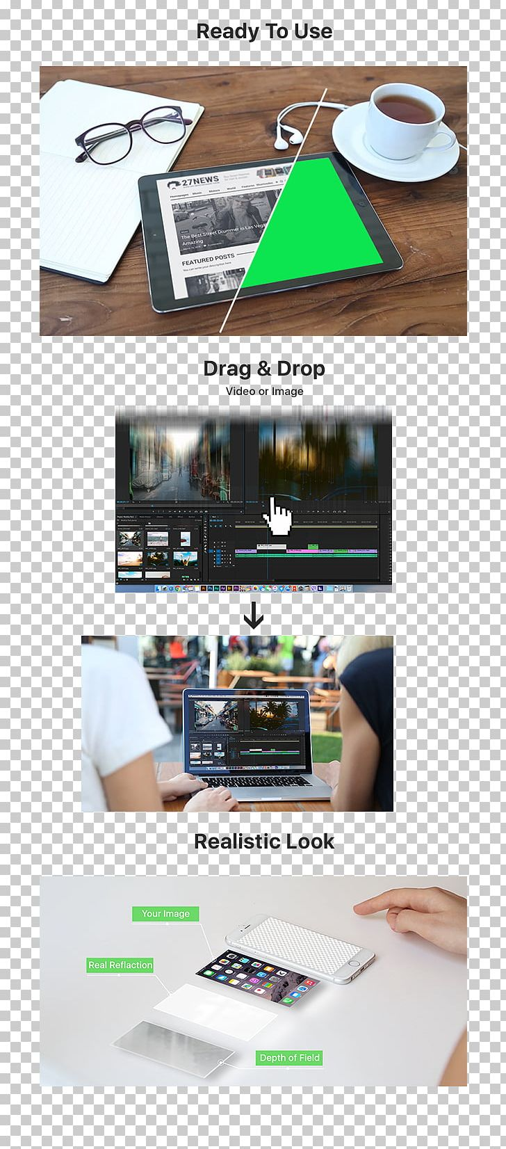 Mockup Adobe After Effects Template Final Cut Pro PNG