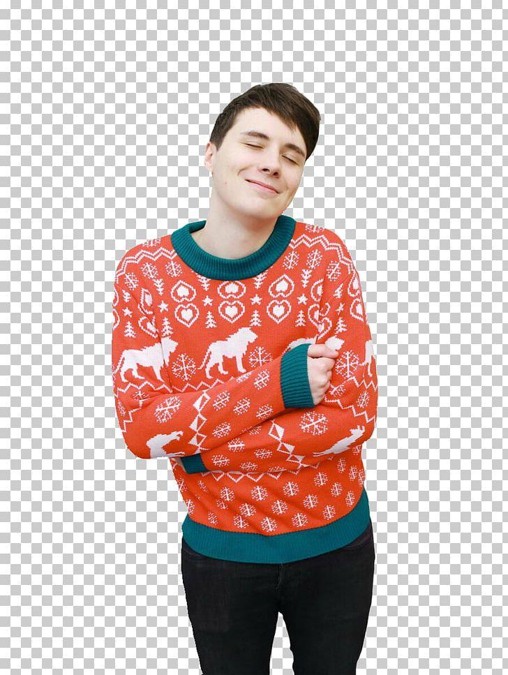 Dan And Phil Christmas Sweater.Dan Howell Dan And Phil Sweater Christmas Jumper T Shirt Png