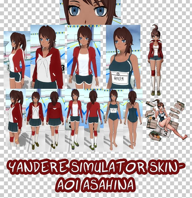 Yandere Simulator Character Minecraft Skin PNG, Clipart, Aoi