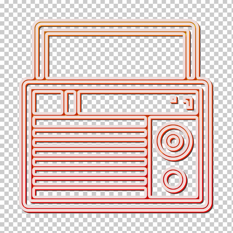 Radio Icon Electronic Device Icon PNG, Clipart, Electronic Device Icon, Line, Radio Icon, Rectangle, Technology Free PNG Download