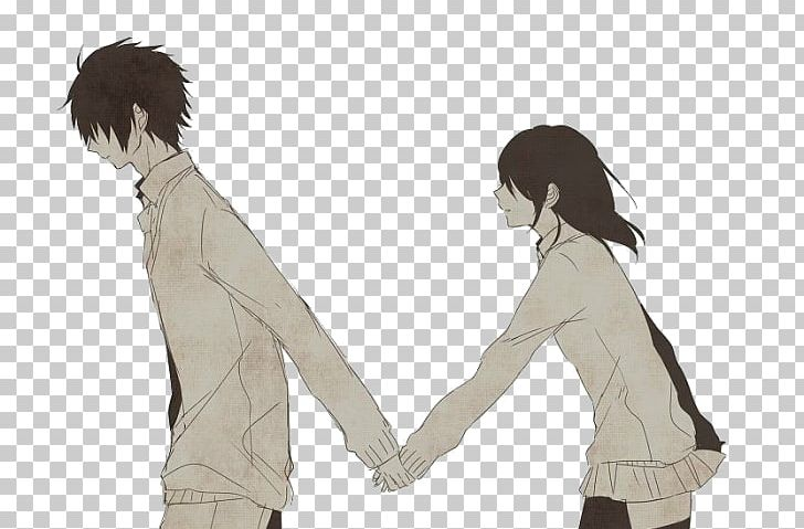 Drawing Anime Manga Holding Hands PNG, Clipart, Animated Cartoon