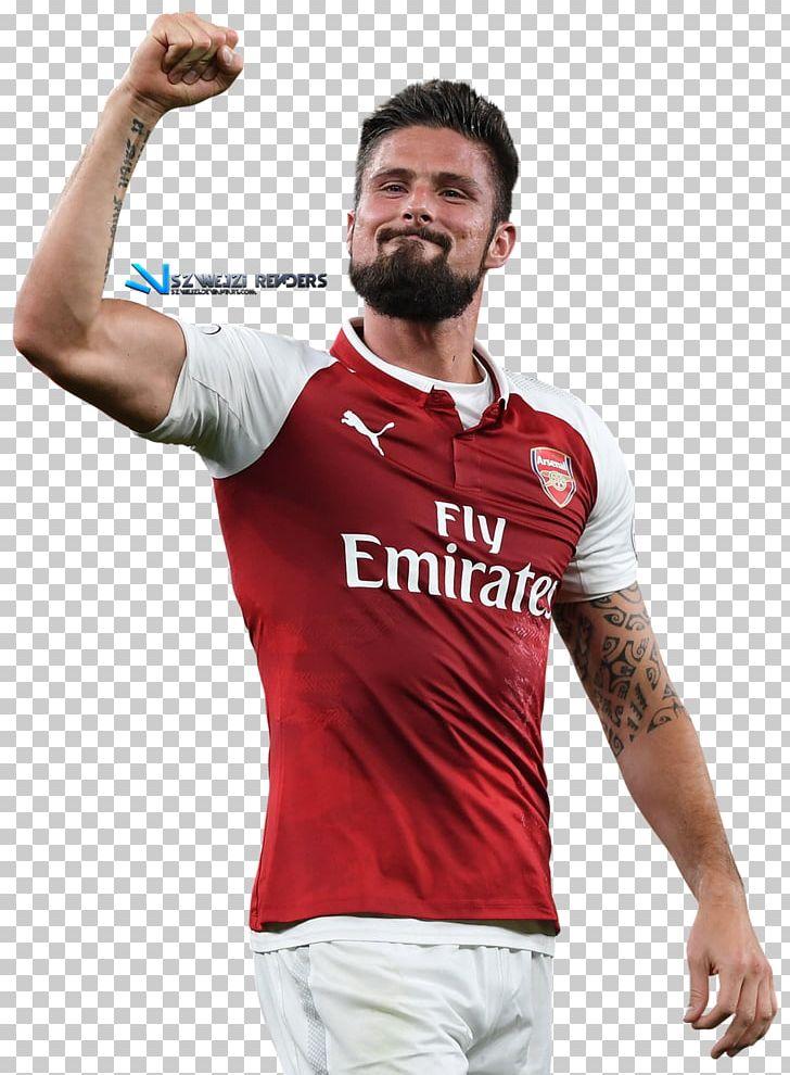 Olivier Giroud Arsenal F C 2017 18 Premier League Chelsea F C Jersey Png Clipart Arsenal Fc Chelsea