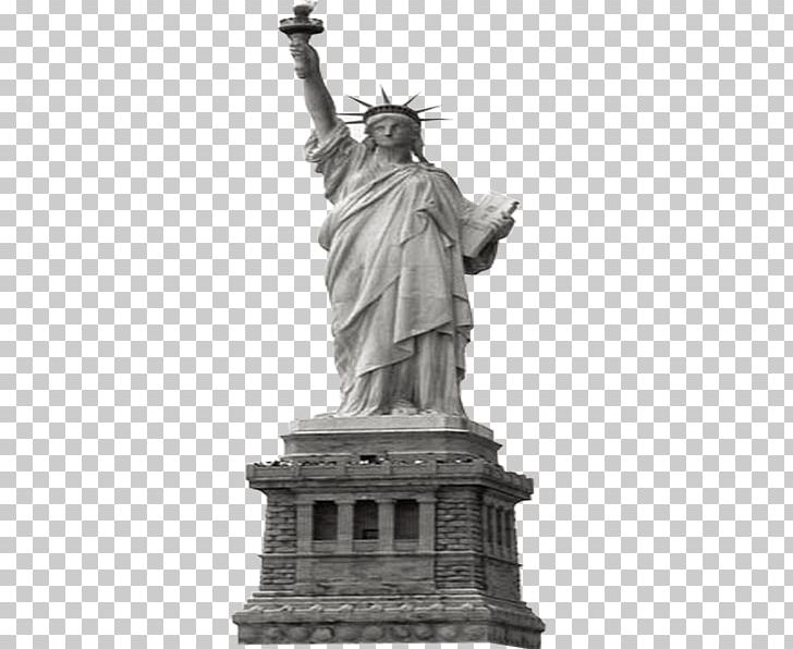 Statue Of Liberty Eiffel Tower New York Harbor PNG, Clipart, Artwork, Buddha Statue, Landmark, Monochrome, Monochrome Photography Free PNG Download