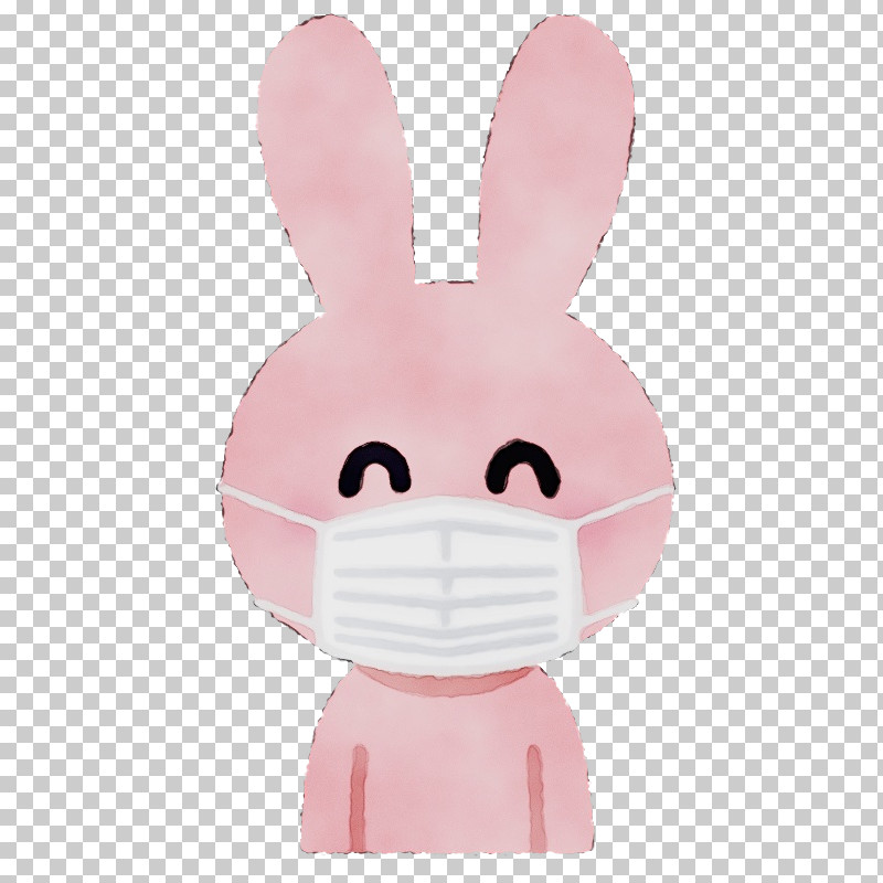 Pink Cartoon Rabbit Nose Rabbits And Hares PNG, Clipart, Cartoon, Ear, Nose, Paint, Pink Free PNG Download