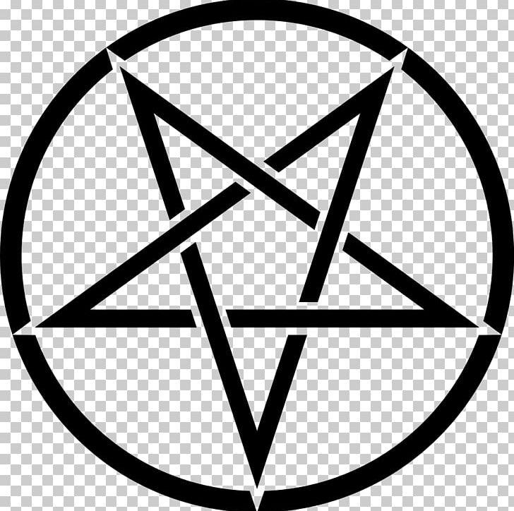 Pentagram Pentacle Satanism Symbol Sigil Of Baphomet PNG, Clipart, Angle, Area, Baphomet, Black And White, Circle Free PNG Download