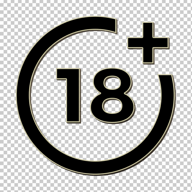 Age Icon Shapes Icon Plus 18 Movie Icon PNG, Clipart, Age Icon, Cinematography Icon, Circle, Logo, Number Free PNG Download