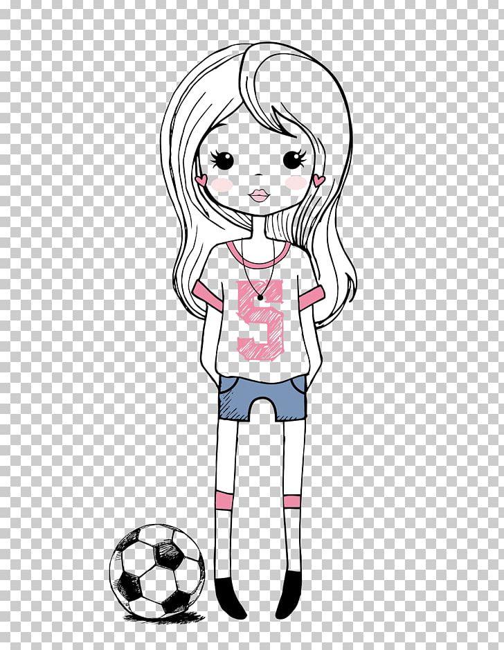 Cartoon Girl Drawing Png Clipart Baby Girl Ball Balloon