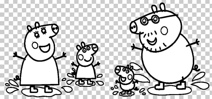 Daddy Pig Coloring Book Drawing Png Clipart Angle Art Black
