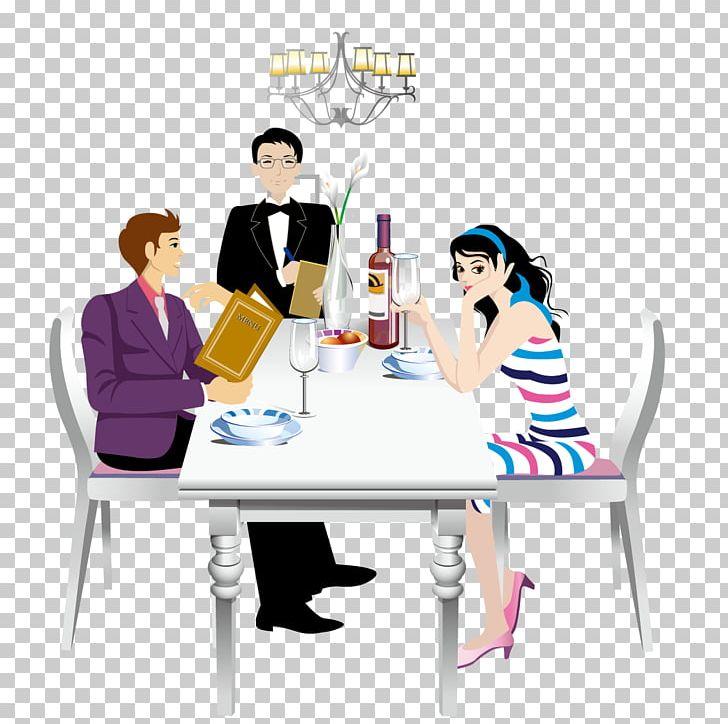 Restaurant Fast Food Menu Illustration PNG, Clipart, Business, Cartoon Couple, Conversation, Couple, Couples Free PNG Download