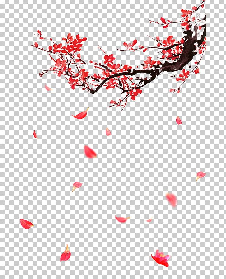 Plum Blossom Portable Network Graphics Graphics Design PNG, Clipart, Branch, Cherry Blossom, Download, Flora, Floral Design Free PNG Download