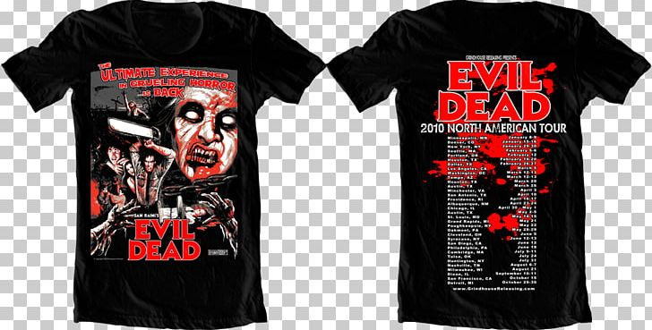 T-shirt Evil Dead Film Series The Evil Dead Fictional Universe Evil Dead: Hail To The King PNG, Clipart, Active Shirt, Army Of Darkness, Ash Vs Evil Dead, Black, Brand Free PNG Download
