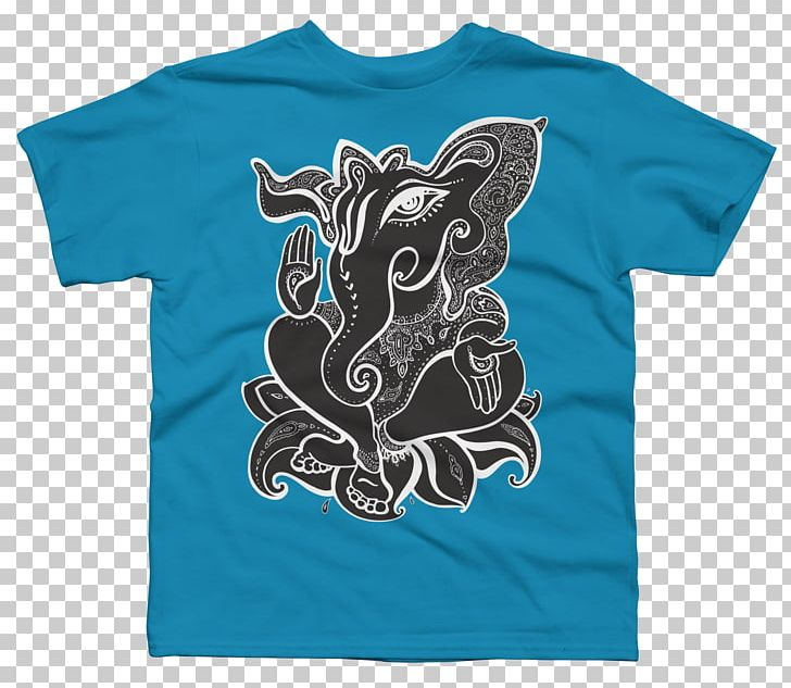 Ganesha Ganesh Chaturthi Hinduism PNG, Clipart, Active Shirt, Aqua, Art, Black, Blue Free PNG Download