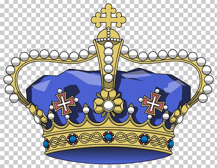 Coat of arms crown. Kingdom italy prince symbol