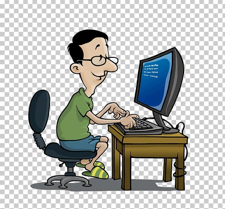 Computer Job Png Clipart Cartoon Comm Computer Computer Learning Computer Operator Free Png Download
