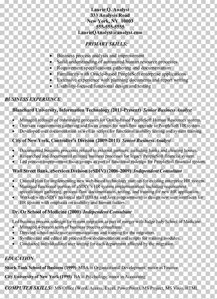 Résumé Template Curriculum Vitae Job Description Cover ...