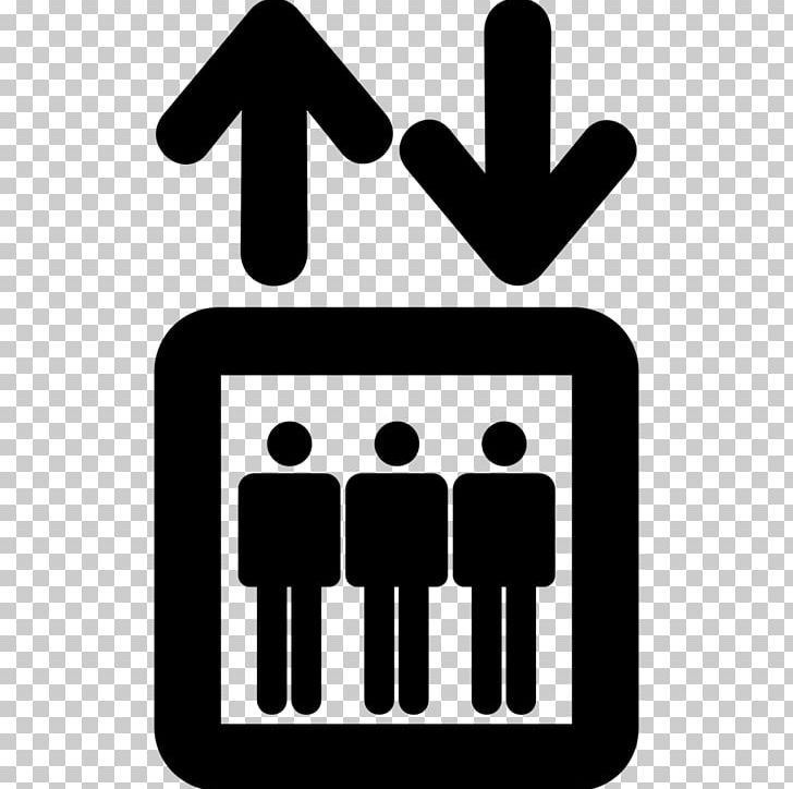 Elevator Transport Sign PNG, Clipart, Area, Black And White, Brand, Communication, Computer Icons Free PNG Download