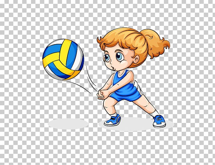Volleyball cute. Play girl png clipart