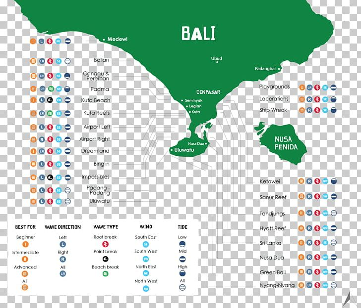 Kuta Surfing Map Png Clipart Area Bali Balinese