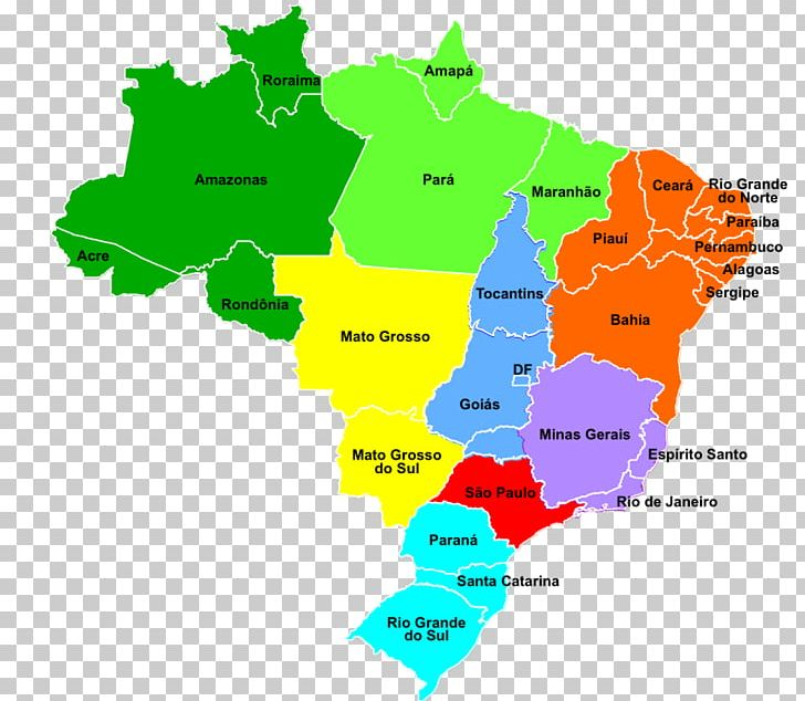 Regions Of Brazil World Map City Map PNG, Clipart, Area, Blank Map ...