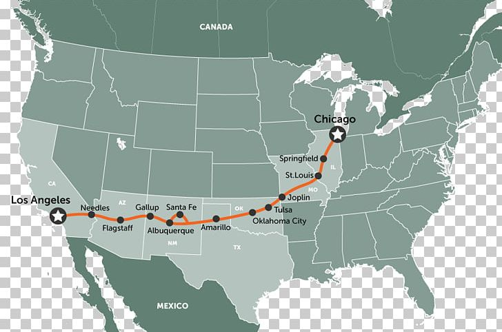 Road Trip U.S. Route 66 Road Map PNG, Clipart, Architectural ...